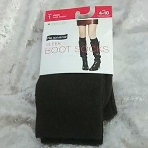 Espresso brown boot socks, fits size 4-10 NWT